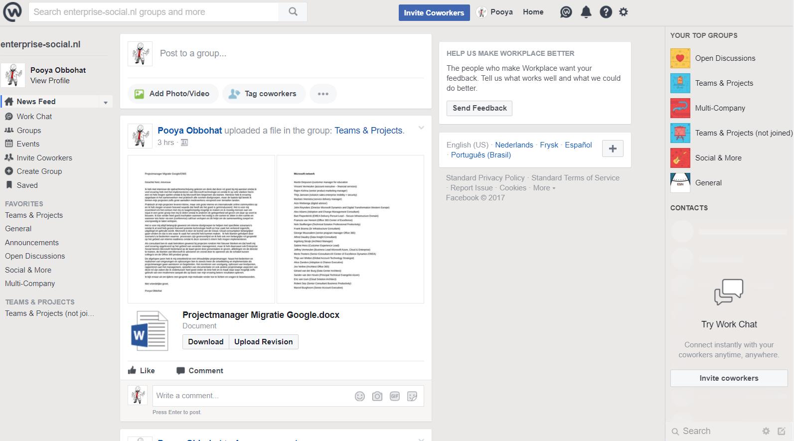 facebook home   Enterprise Social Nederland